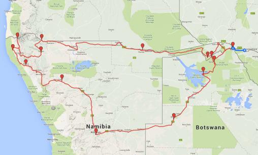 Route_Namibia_Botswana2016
